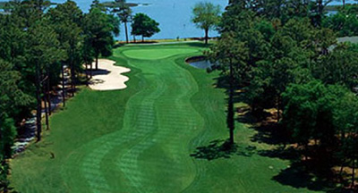 The 18th hole at Lockwood Folly offers one of the Grand Strand's best views